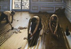 Les raboteurs de parquet (The Floor Scrapers) (1875), oil on canvas, Musée d'Orsay, Paris | artwork by Gustave Caillebotte