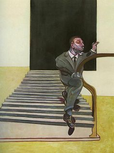 Francis Bacon (British, 1909-1992), Portrait of a Man Walking Down Steps, 1972. Oil on canvas, 198 x 147.5 cm