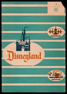 "Today's ""Souvenir Dungeon"" entry definitely falls under the category of ""One man's trash is another man's treasure"". Disneyland World, Vintage Disneyland, Vintage Disney Posters, Walt Disney Mickey Mouse, Historical Images, Disney Art, Disney Stuff, Popcorn Boxes, Disney Bounding"