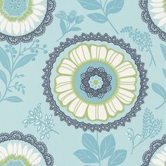 I pinned this Lacework Wallpaper in Ocean from the Amy Butler event at Joss and Main!$57.95