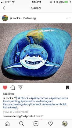 Pebble Painting, Pebble Art, Stone Painting, Diy Painting, Rock Painting Ideas Easy, Rock Painting Designs, Stone Crafts, Rock Crafts, Drawing Rocks