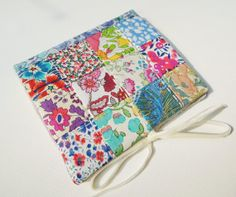 Needlecase ~ needle book in Liberty of London patchwork, lined with linen ~ I love Liberty of London fabrics!