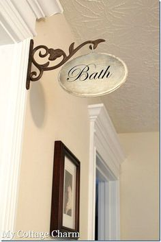 How to make a Hallway Sign via @Missy My Cottage Charm . What a cute idea!