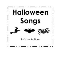 halloween activities free fun halloween songs and poems plus puppet sticks from preschool printables halloween activities pinterest halloween songs - Halloween Songs For Preschoolers