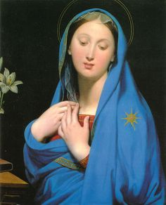 DAISEAS:    Virgin of the Adoption, Jean-Auguste Dominique Ingres, 1858
