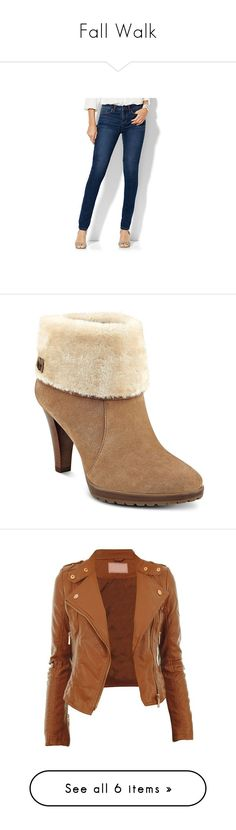 Fall Walk by phillipsjt on Polyvore featuring polyvore, women's fashion, clothing, jeans, blue, high rise skinny jeans, petite high waisted skinny jeans, blue high waisted jeans, tall skinny jeans, dark blue skinny jeans, shoes, boots, ankle booties, natural, short suede boots, platform bootie, short boots, suede ankle boots, stacked heel booties, outerwear, jackets, tops, coats, coats & jackets, sweaters, v-neck sweater, v neck sweater, red sweater, red long sleeve top, drapey sweater…