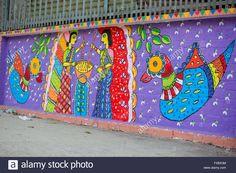 Horse riding king, Painted wall on occasion of 'Pahela Boishak, the Bengali New Year. © Jahangir Alam Onuchcha/ Alamy Stock Photo