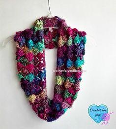 Shell N Picots Cowl By Erangi Udeshika - Free Crochet Pattern - (ravelry)