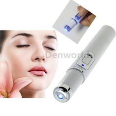 NEW Blue LED Light Therapy Laser Pen Scar Wrinkle Removal Acne Treatment Device