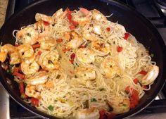 Spicy shrimp shirataki noodles