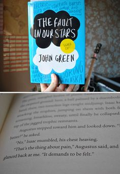 The Fault in Our Stars By John Green. I've never read any of his stuff, but have loved all quotes by him that I've found on Pinterest, so maybe I'll check this out