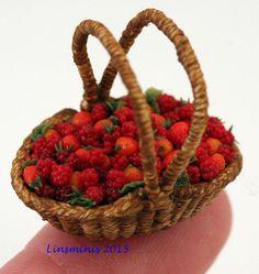 Tiny raspberries & strawberries!
