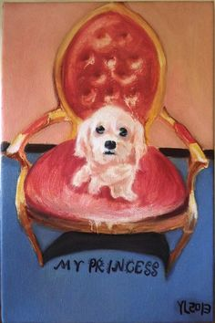 """Saatchi Online Artist: luo yung; Oil 2013 Painting """"my princess"""""""