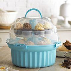 Lakeland Carousel Cupcake Carrier Caddy & Storage Box (Holds 24 Cupcakes)
