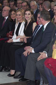 Queen Letizia of Spain attends the 'Gran Angular' and 'El Barco De Vapor' literature awards at Casa de Correos on April 19, 2016 in Madrid, Spain.