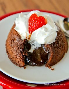 These easy and delicious chocolate molten cakes are perfect for warming you up on a chilly night!