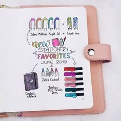 Masha ( I've gone a bit crazy with my stationery shopping lately, so here are some of my new favorite Bullet Journal suppliest. How To Bullet Journal, Bullet Journal Junkies, Bullet Journal Notebook, Bullet Journal Spread, Bullet Journal Ideas Pages, Journal Pages, Journal Quotes, Bullet Journals, Bujo