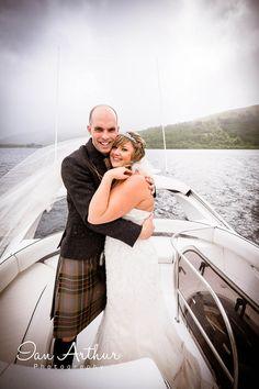 All at sea and all in love... #www.ianarthur.co.uk  #wedding #photographer #Glasgow #Loch_Lomond