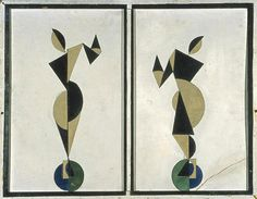 Theo Van Doesburg, a leading theorist of De Stijladvocated a simplified, geometric, and reductive aesthetic in the visual arts and argued that painting, design, and architecture should be fully integrated.