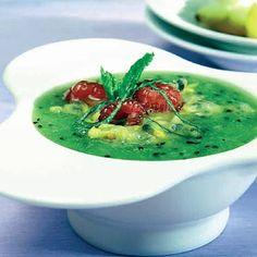 Sopa de kiwis y otras frutas