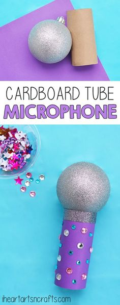 Recycled cardboard tube microphone – Recycled Crafts #recycledcraftscardboard