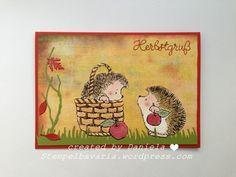 Hallöchen ihr Lieben, hoffe ihr genießt das Wochenende ;-) Die letzte Herbstkarte für dieses Jahr möchte ich euch zeigen, bevor ich Weihnachtskarten zeige. Stecke grade mitten in der Weihnachtskart…