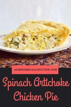 Spinach Artichoke Chicken Pie