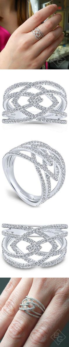 Diamonds and Gold Intermingled for Beautiful Style. Gabriel Diamond Jewelry at Ben Garelick. #GabrileCoRetailer http://ss1.us/a/OasA67Mi