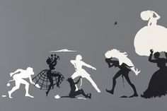 "Kara Walker, ""The Rich Soil Down There"" - paper cut out #paper #paperart"