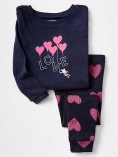 Embroidered love sleep set