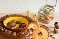 Brioche de Pâques fourrée aux Pralinés (Osternbrioche mit Pralinen)