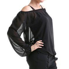 Blusa de Tul Negra