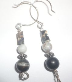 stunning beaded marble stone dangle by PatsapearlsBoutique on Etsy, $5.99