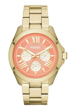 #coral and #gold watch http://rstyle.me/n/mmasvr9te