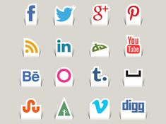 Free Paper Cut Social Media Icons (Updated)