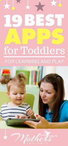 19 Best Apps For Toddlers For Learning And Play | Check out these apps that are perfect for toddlers for learning and playing! #Toddlers #Appsforkids