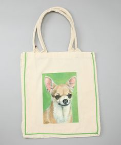 Take a look at this Natural Chihuahua Shopper Tote by AWST INTERNATIONAL on #zulily today!