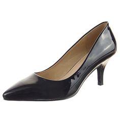 Sopily - damen Mode Schuhe Pumpe Dekollete Stiletto glänzende - Schwarz - http://on-line-kaufen.de/sopily/sopily-damen-mode-schuhe-pumpe-dekollete-schwarz