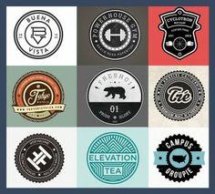 Badges as Logos (2014 trend)