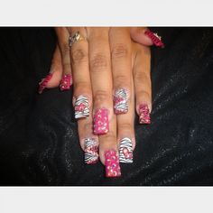 Busy, but well done. She claims she used no stickers ... all done by hand.   #IHeartNailArt