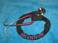 Stethoscope Cover Personalized with Your Name. Great for Nurses EMT Paramedic CNA. $10.00, via Etsy.
