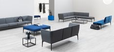 Social is a modular system of linear, corner, curvy seatings and poufs