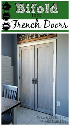 28 Easy Solutions To Your Closet Problems | Folding Doors | Pinterest | Closet  Doors, Doors And Bar Stand