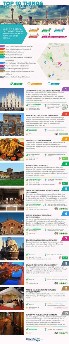 Best Things To Do In Milan, Italy #infographics #Milan #Italy #vacation #tourist #holidays