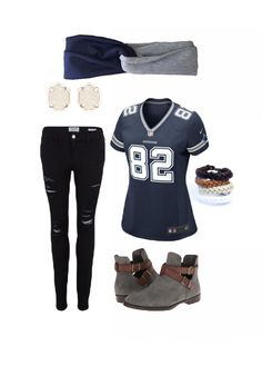 Dallas Cowboys Game Day Outfit @afayemade headband @poppylaneandco bracelets