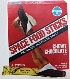 space food sticks . Wow, were these terrible, but oh so cool because the astronauts ate them:-)  Peanut Butter was the best.