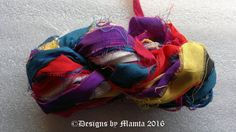 Art Silk Ribbon Yarn Sari Silk Yarns & Ribbons Crochet by Mamta
