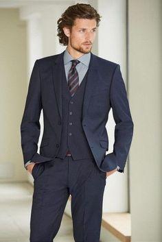3 pieces Men suits Slim fit Notched lapel Grooms wedding suits (jacket+pants+vest+tie)