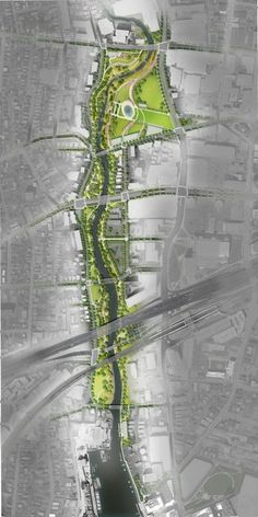 2014 Update of the Mill River Park Masterplan Villa Architecture, Landscape Architecture Drawing, Landscape And Urbanism, Architecture Graphics, Landscape Plans, Landscape Designs, Urban Landscape, Masterplan Architecture, Architecture Diagrams