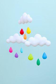 Regenbogen Wolke Mobile. von MilbotandChooky auf Etsy